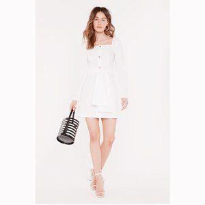 NWT!! NASTYGAL WHITE OFF-SHOULDER MINI DRESS
